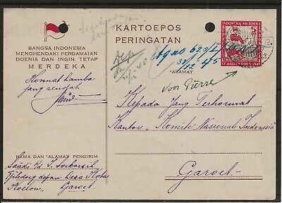 Netherlands Indies Indonesia Revolution Period Kartoepos Peringatan