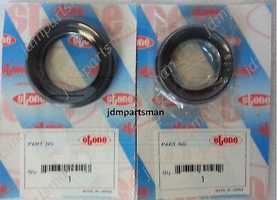 (Honda / Acura Integra CR-V Axle Seal Set of 2 Left and Right JF46530 + JF46487)