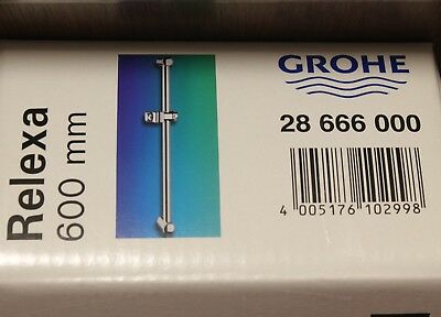 GROHE 28666000 Relexa Chrome Shower Rail 600mm (Grohe Chrome Shower)