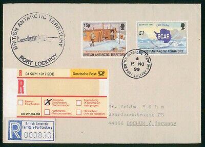 Mayfairstamps British Antarctic Territory 1999 Port Lockroy Registered to German