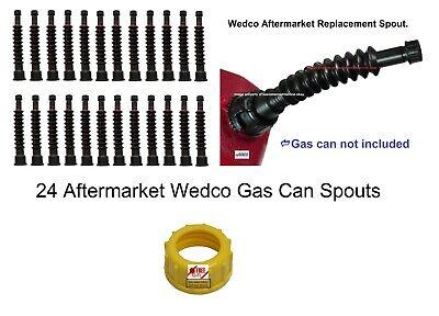 24 New Gas Can Spouts Wedco Aftermarket Briggs Diesel Kerosene Water Dealer Pack