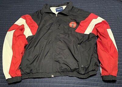 Vtg Red White Black Coca Cola Holloway Zip Lined Jacket Sz 2XL Coke