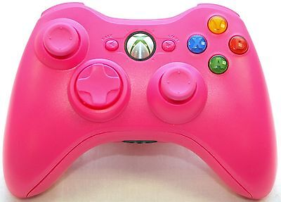 Official Microsoft Xbox 360 Wireless Controller in PINK game gaming cordless HOT
