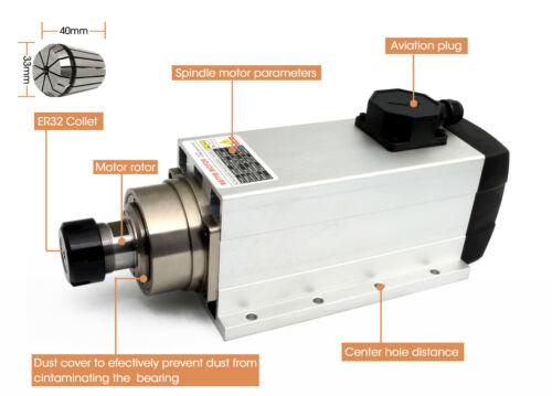 ER32 6KW 380V Spindle Motor Air Cooled CNC Milling Machine 300Hz 12A 18000rpm