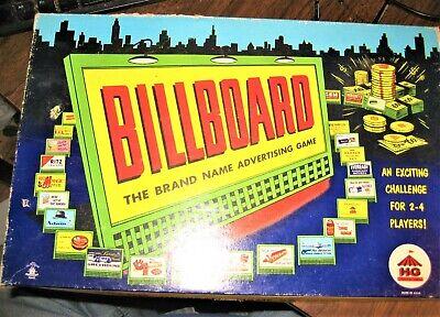 Billboard Brand Name Advertising board game Vintage Board Game scarce