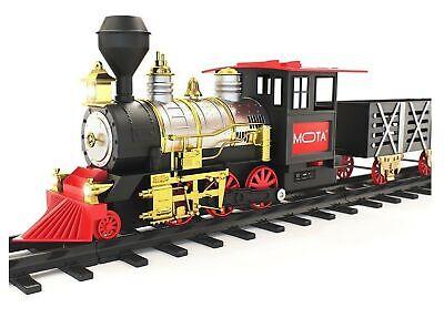 MOTA Classic Holiday Christmas Train Set with Real Smoke - Authentic Lights, ...