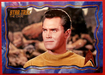 """STAR TREK TOS 50th Anniversary - """"THE CAGE"""" - GOLD FOIL Chase Card #64"""