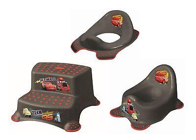 3er Z Set Disney Cars metallic Töpfchen + WC Aufsatz + Hocker zweistufig - Zwei Hocker Set