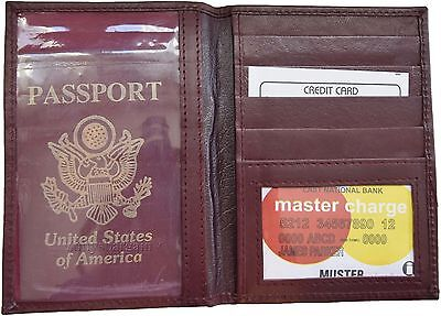 Lambskin Passport Cover (New Lamb skin USA Leather passport cover,  wallet credit card case ID holder)