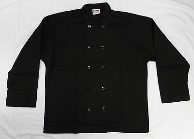 Chef Coat Jacket Black Uncommon Threads 402 Restaurant Uniform Xl New