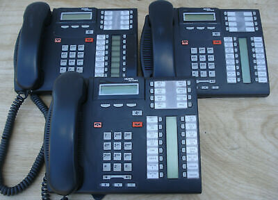 Lot Of 10 Nortel Networks T7316e Lcd Phone Charcoal Free Shipping