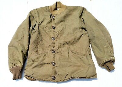 1950 US Army Field Jacket Pile Liner Coat M-1943 Size 38R