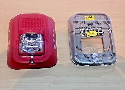 System Sensor Fire Alarm Remote Strobe Red. Original Box Specs Srl