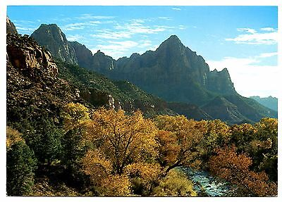 Virgin River Zion National Park (Zion National Park Utah Postcard Autumn Along the Virgin River Posted 1994)