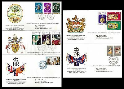 Royal Commonwealth Society. Lot of 5 Topical Envelope. Queen Elizabeth.(BI#BX30)
