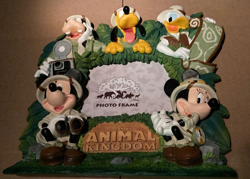 Disneys Animal Kingdom Fab 5 Picture Frame Mickey, Minnie, Goofy, Donald & Pluto