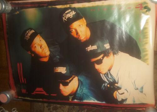 NWA N.W.A. Niggaz With Attitude Vintage 1991 Grp Poster Eazy E