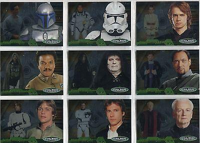 Star Wars Evolution Update Complete Evolution 'B' Chase Card Set 1B-15B