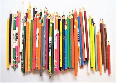 Lot of 97 Crayola Colored Pencils Some - Crayola Erasable Colored Pencils