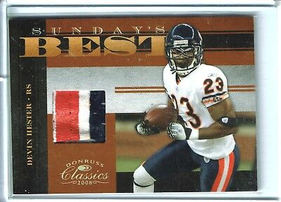 Devin Hester Jersey (Awesome DEVIN HESTER 3-color jersey swatch card #19/25 CHICAGO BEARS)