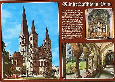Alte Postkarte -  Münsterbasilika in Bonn