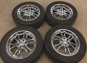 "20"" deep dish chrome rims (275/55R20) 6x135"