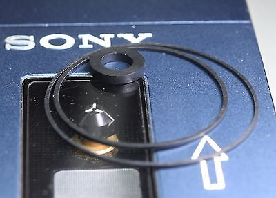 Sony TPS-L2 WM-3 TCM-100 TCM-600 - set of 2 belts plus 2 idler tires for walkman