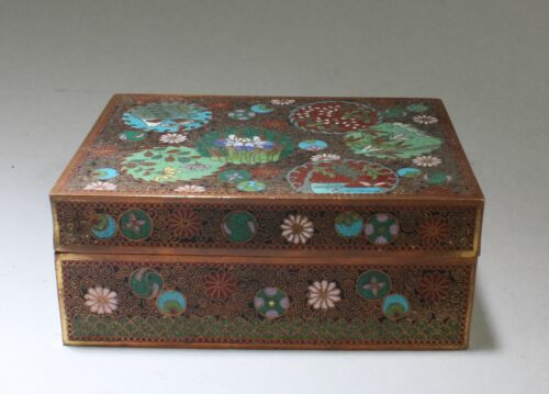 Chinese Cloisonne Rectangular Shaped Container