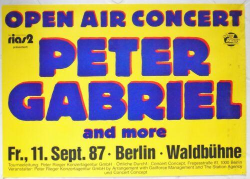 Peter Gabriel Berlin 1987 XL European Kiosk Concert Poster