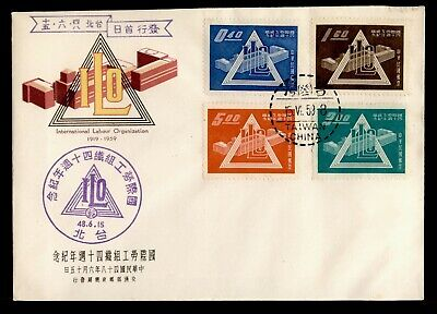DR WHO 1959 TAIWAN CHINA FDC INTL LABOUR ORGANIZATION  C243424
