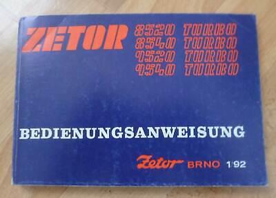 Używany, Zetor Traktoren 8520 + 8540 + 9520 + 9540 Turbo Betriebsanleitung na sprzedaż  Wysyłka do Poland