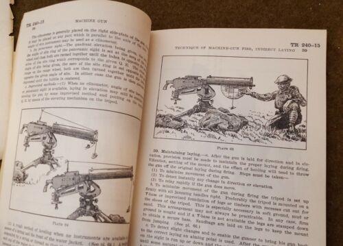 Scarce WWI-WWII Machine Gun Manual c.1926