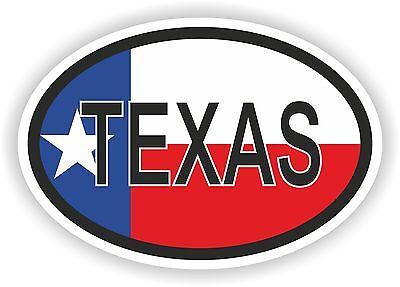 OVAL TEXAS STATE WITH FLAG USA STICKER AUTO MOTORRAD TRUCK LAPTOP BIKE CAR