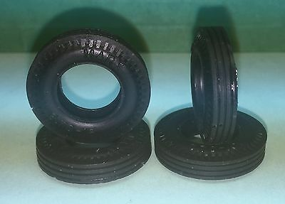Set of 4 Marx 1:32 Scale Early Home Set NEW Reproduction Slot Car Tires
