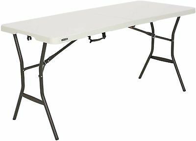 5' Fold-in-Half Portable Table Indoor Outdoor Picnic Party D