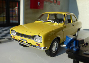 G 1:24 Scale Ford Escort Mk1 1300 GT Mexico 1969 Whitebox Super Detailed Model
