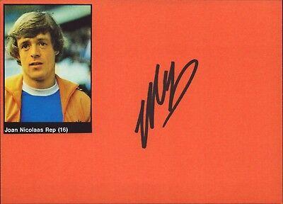 Johnny Rep Niederlande - WM 1978 - Fußball Original Autogramm Autograph (K-9539