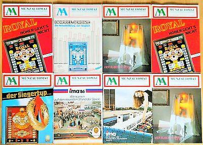 MA  41 Hefte Münzautomat,Fachzeitschrift für die Münzautomatenbranche, 1981-1988
