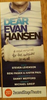 RARE Dear Evan Hansen  Off Broadway Flyer Tony winner play
