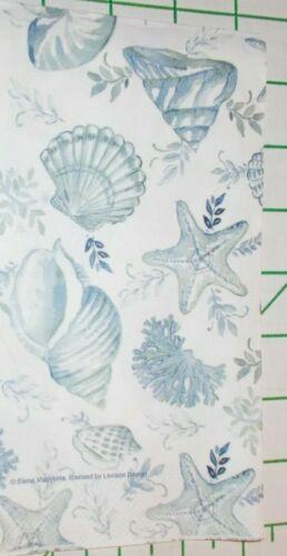 "Two Decorative Hostess Napkins for Decoupage ""Blue Seashells"""