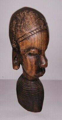 Antique Wooden African Head Ornament
