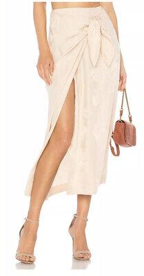 Nanushka Black Floral Detail Belted Skirt XS -