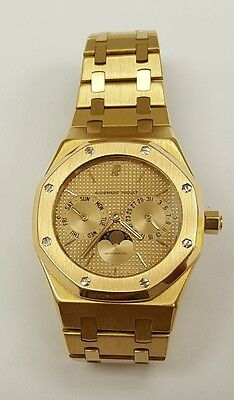 $17500.00 - Audemars Piguet Royal Oak Moonphase Solid 18K Gold