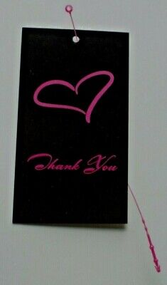 100 Hang Tags Boutique Tags Price Tags Pink Heart Accessories Tags 100 Loops