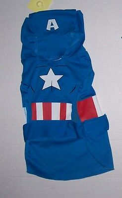 NWT Marvel Avengers Captain America Dog Costume Sz Small Halloween Super Hero ()