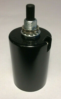 New Phenolic Bakelite 2 Piece Bottom Husk Socket, On/Off Turn Knob, Medium Base Bottom Turn Knob Socket