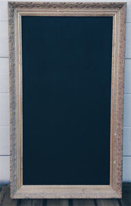 Gold ornate framed antique chalkboard for Hire Rosanna Banyule Area Preview