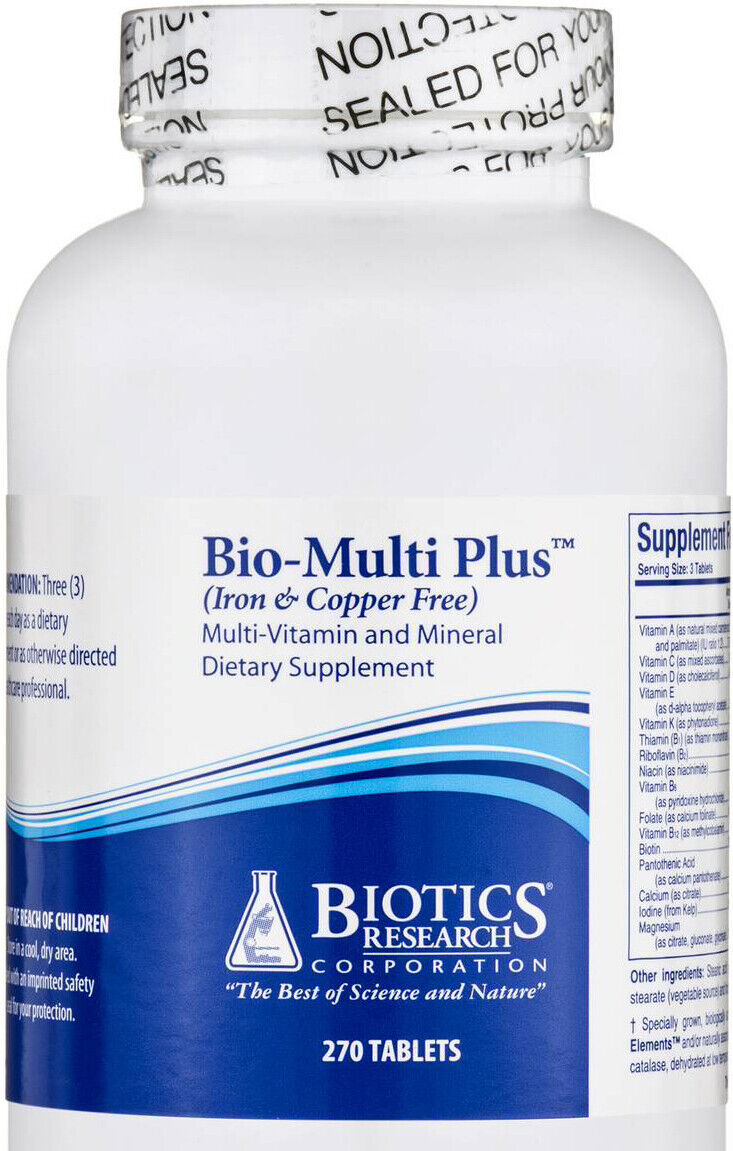 Biotics Research - Bio-Multi Plus (Iron & Copper Free) 270 Tablets (BioMulti)