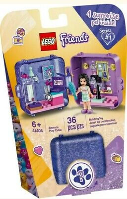 NEW FACTORY SEALED LEGO® FRIENDS Emma's Play Cube 41404 36 pcs + 1 SURPRISE PET