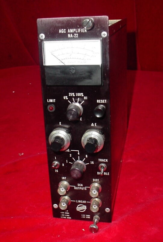 Harshaw NIM BIN Module  NA-22  AGC Amplifier Amp NA22 Plug-In